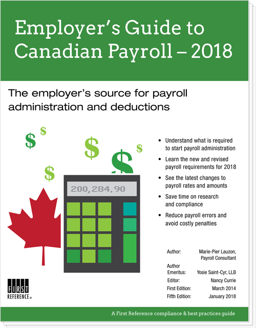 Employer's guide to Canadian payroll 2018