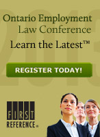2013 Ontario Employment Law Conference