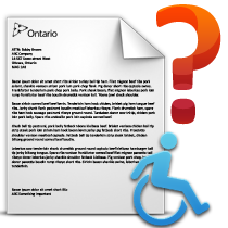 Government letter Accessibility Standards